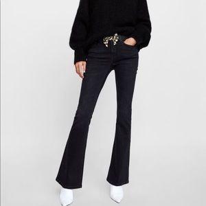 Zara Premium The Skinny Flare Jeans Moore Black